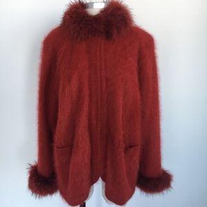 Vintage Connie A Lee Faux Fur Cozy Angora Jacket